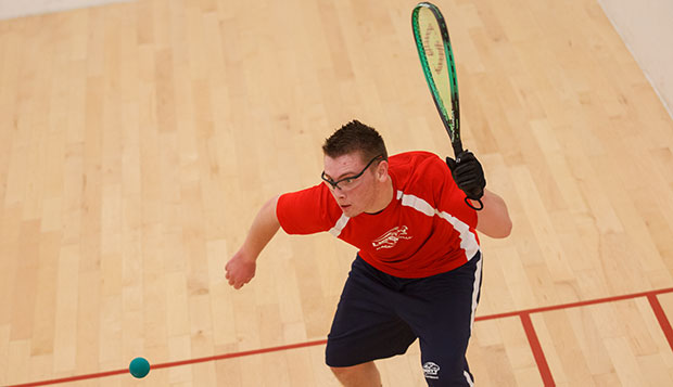 Senior left-hander Joel Denny, shown playing in last spring's MACRC tournament at The Sports Racket, is Liberty's top returning player and the only one competing at Level 1. test test test test