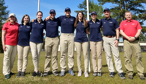 Liberty's first-year rifle team placed sixth in Air Rifle and eighth in Small Bore Rifle at the Intercollegiate Club Rifle Championships. test test test test