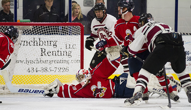 The last time the two teams met in the LaHaye Ice Center, the Flames salvaged a split with the Warriors on Jan. 17, 2015. (Photo by Jessie Rogers) test test test test