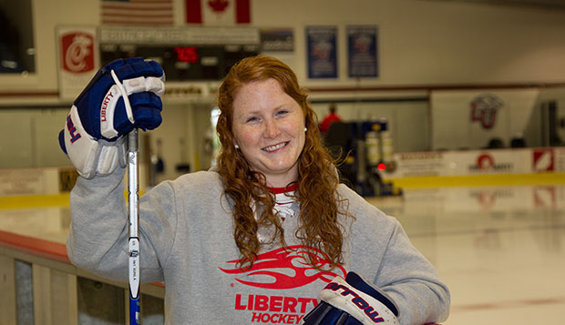 Prior to Thursday night's practice with the Lady Flames, Hamilton Hawks assistant coach Brooke Harris feels right at home in the LaHaye Ice Center, where she played for four seasons. The two teams will square off today at 4:45 p.m. test test test test