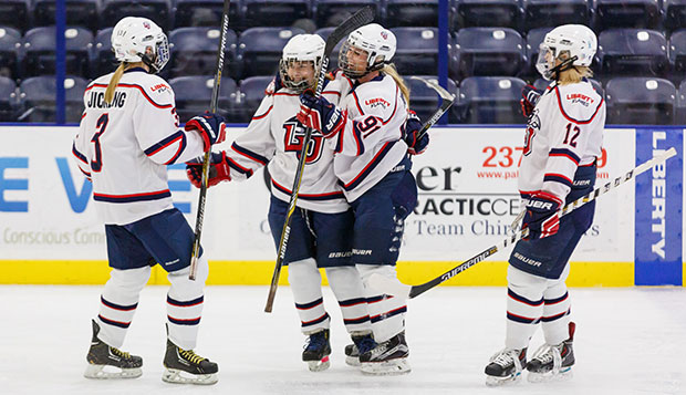 Liberty's ACHA Division I women's hockey team will seek to successfully defend its National Championship on Wednesday through Sunday in Kalamazoo, Mich. test test test test