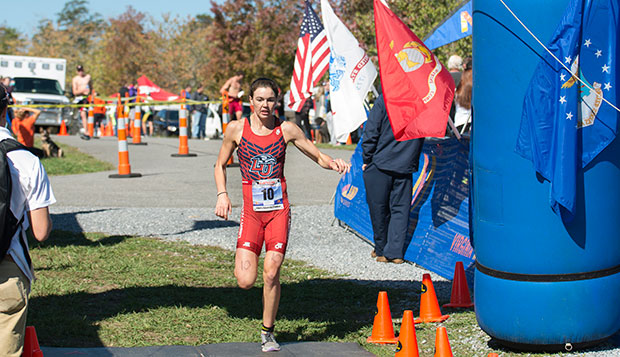 Megan Merryman finished fourth at the Oct. 17, 2015 Mid-Atlantic Regional Championships at Smith Mountain Lake. test test test test