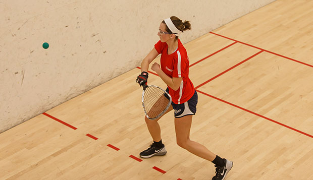 Liberty senior Morgan Drake competes at a recent tournament at The Sports Racket. test test test test