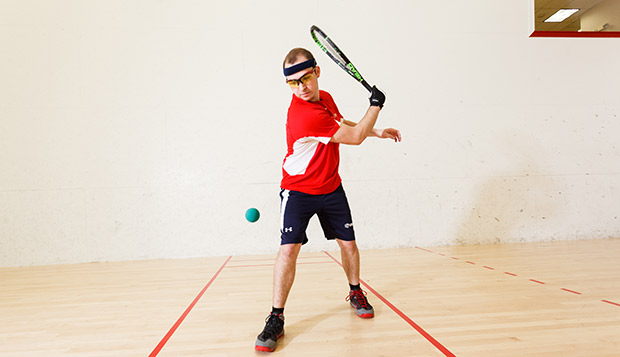 Liberty senior David Schreck and four teammates competed in their first USA Racquetball National Intercollegiate Championships, hosted by Arizona State University. test test test test