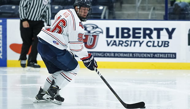 Flames junior forward Robert Ward netted a hat trick, scoring three straight goals to lift Liberty to a 5-1 advantage on UMBC in Saturday's South Division final. test test test test