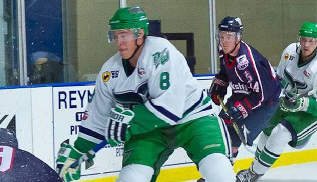 Scott Morongell was named one of two defensemen of the year in the Federal Hockey League in 2013-14, playing for the Danbury (Conn.) Whalers. test test test test