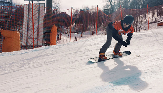Junior snowboarder Chris Holt was the Flames only finalist and placed third in Sunday's Boardercross at Appalachian Mountain. test test test test