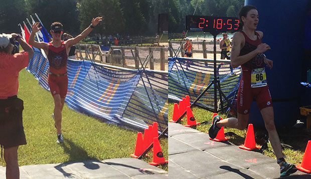 Thomas Sonnery-Cottet and Megan Merryman won their respective races at Saturday's Giant Acorn International Triathlon at Lake Anna State Park. test test test test
