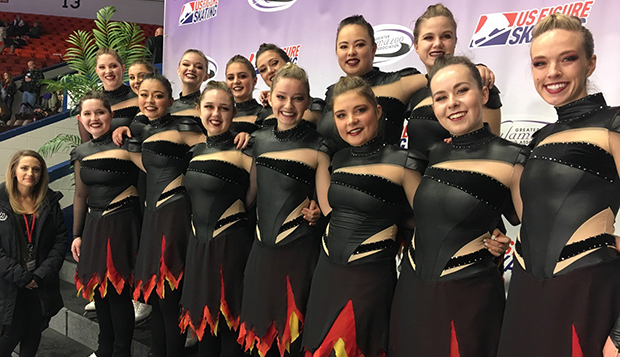 Liberty's synchronized skating team will travel back to Michigan for its next competition on Dec. 1-2. test test test test