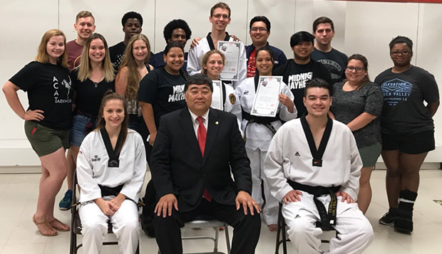 Trio of tae kwon do team members promoted to black belts test test test test