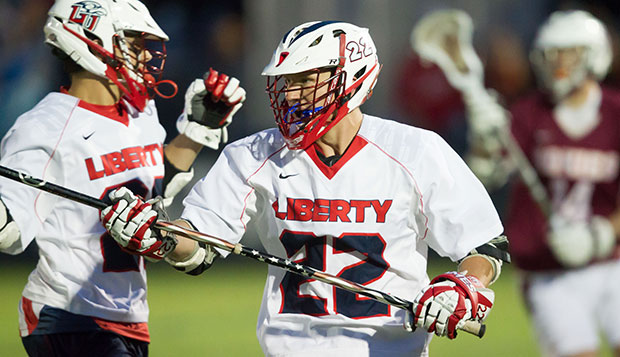 Senior Travis Briggs scored the first goal of his career early in the fourth quarter, extending Liberty's lead to 13-4. test test test test