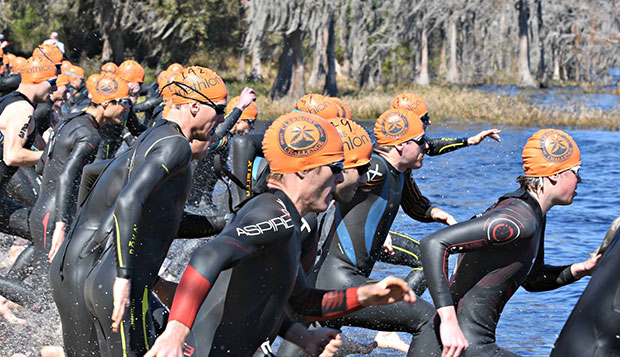 Trio of triathletes compete in Clermont Draft Legal