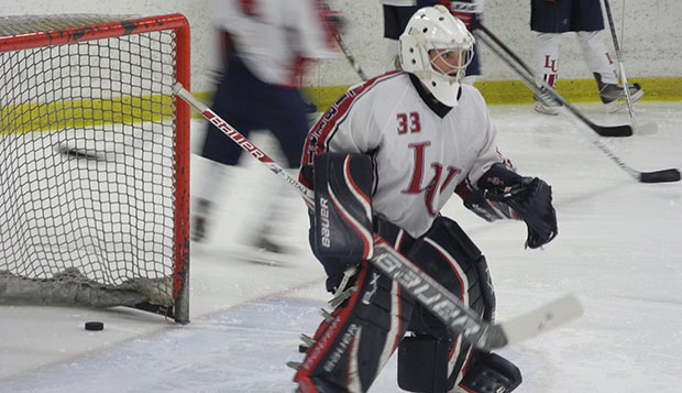 Liberty sophomore goalie Samantha Rupp, who had posted her sixth shutout of the season in Friday's 6-0 rout of the Golden Gophers, faced Minnesota again from between the pipes Sunday. test test test test