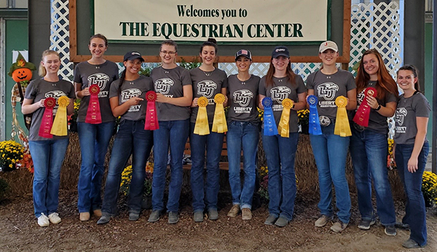Members of Liberty's Western equestrian team won multiple individual ribbons at St. Andrews (N.C.) University. test test test test