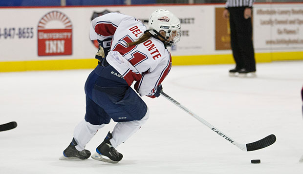 Lady Flames bounce back from loss to split Minnesota series test test test test