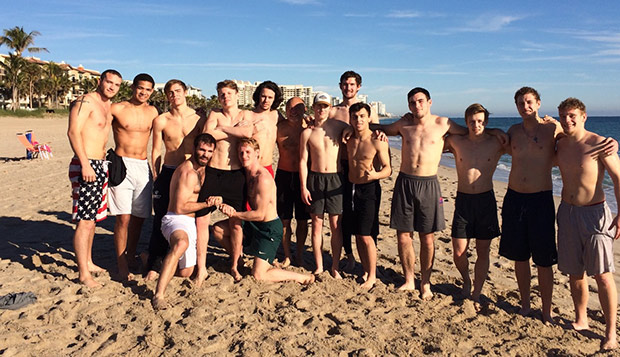 The Flames had some time to unwind and train on the beaches of Fort Lauderdale after competing in the Citrus Classic. test test test test