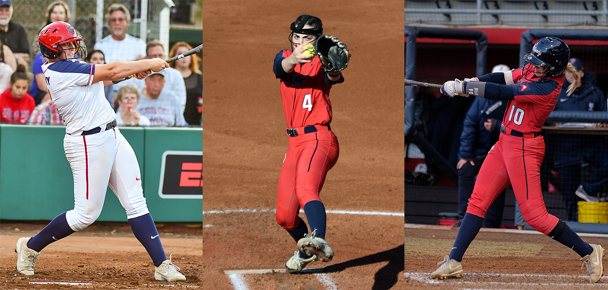 Amber Bishop, Karlie Keeney and Kara Canetto were all named to the 2020 VaSID University Division All-State Softball Team.