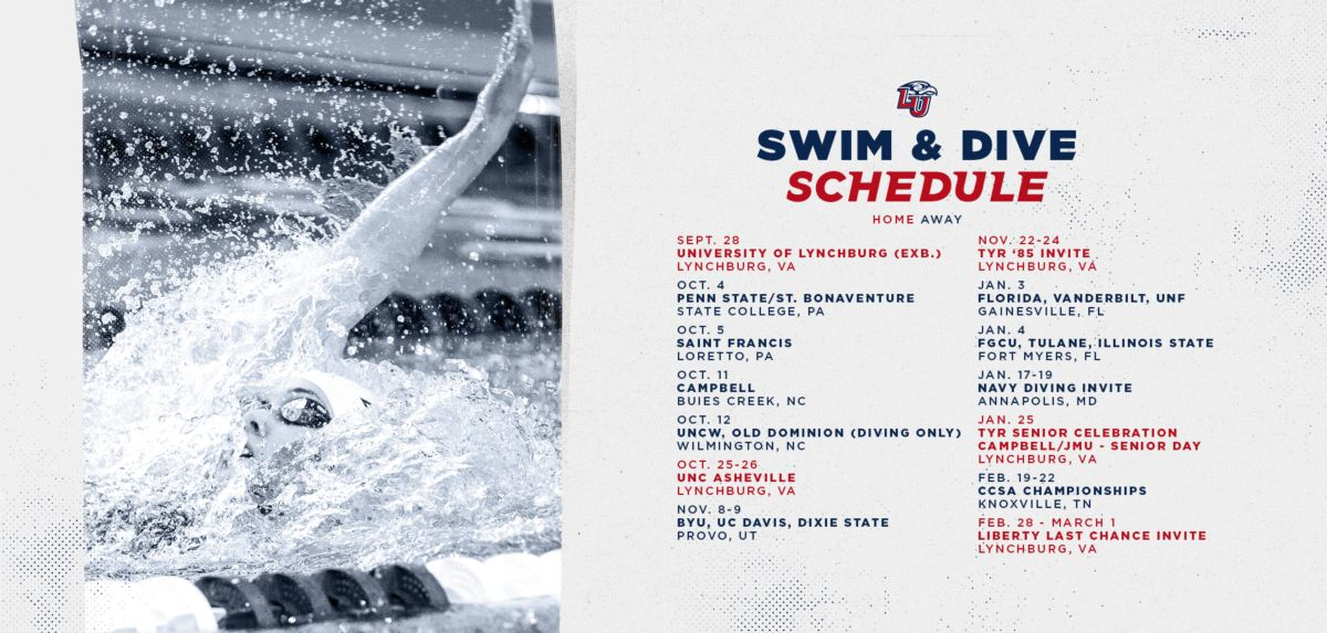 Season Opener at Penn State Highlights 2019-20 Liberty Swimming & Diving Schedule