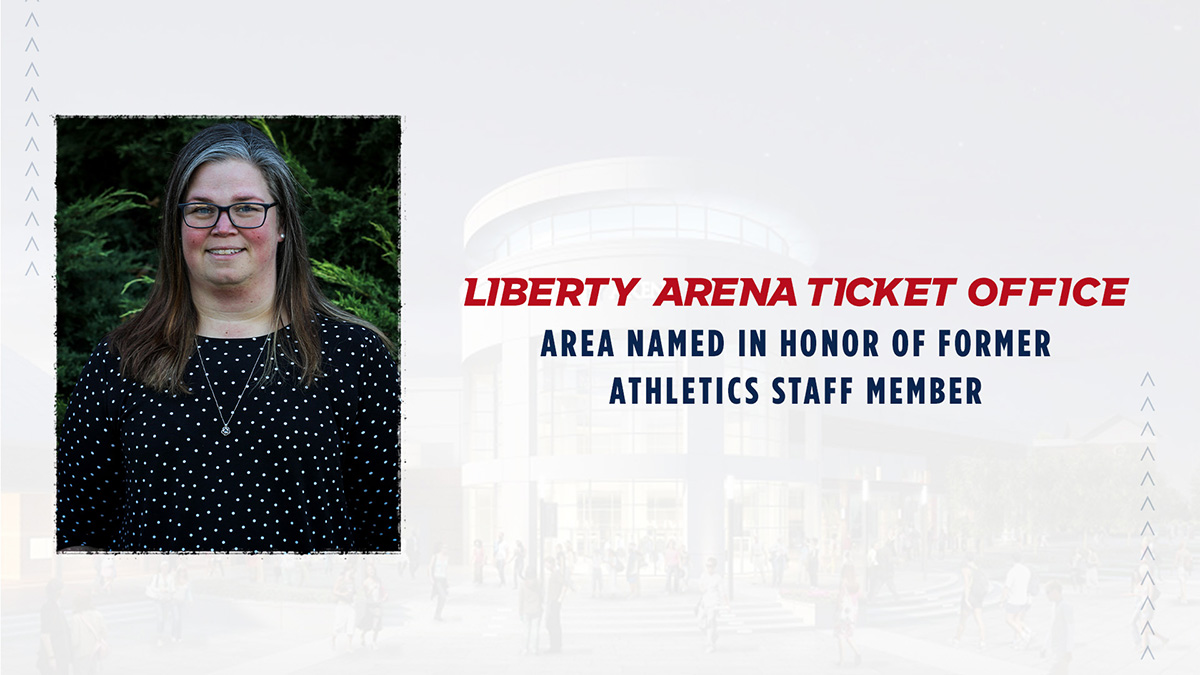 Anna (Whitehurst) Hutchinson left an indelible mark during her time with Liberty Athletics and now her memory will live on when the new Liberty Arena opens this fall.