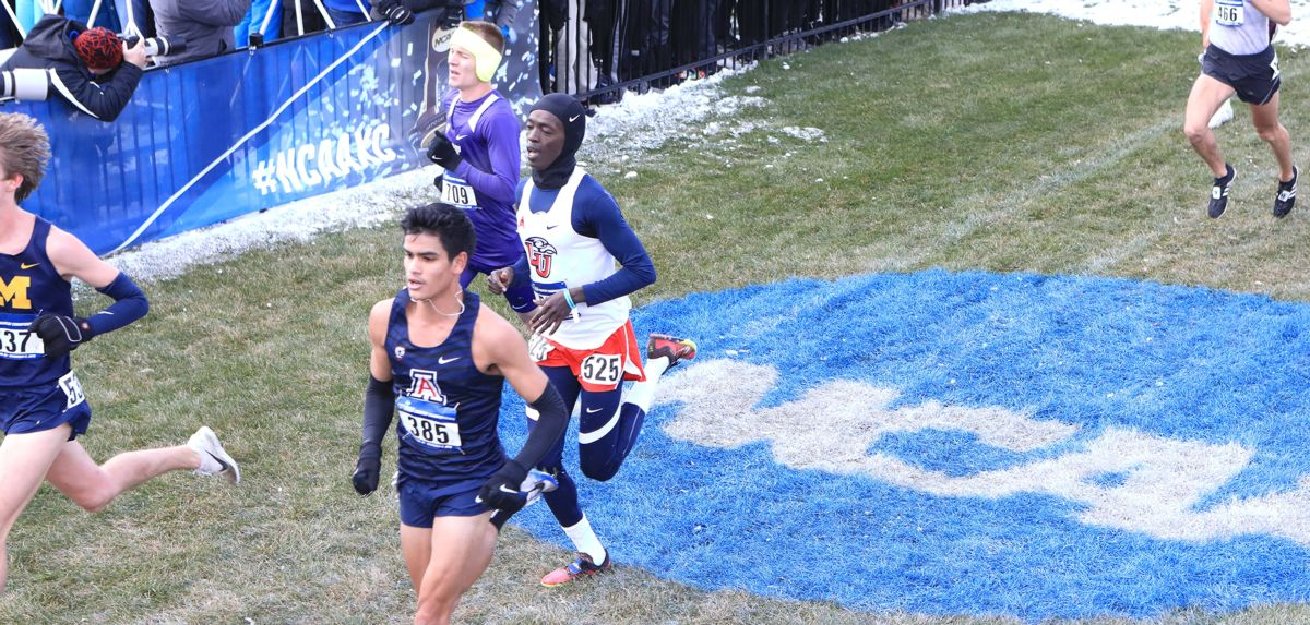 Azaria Kirwa was the individual runner-up in Friday's Paul Short Run men's 8K gold race.