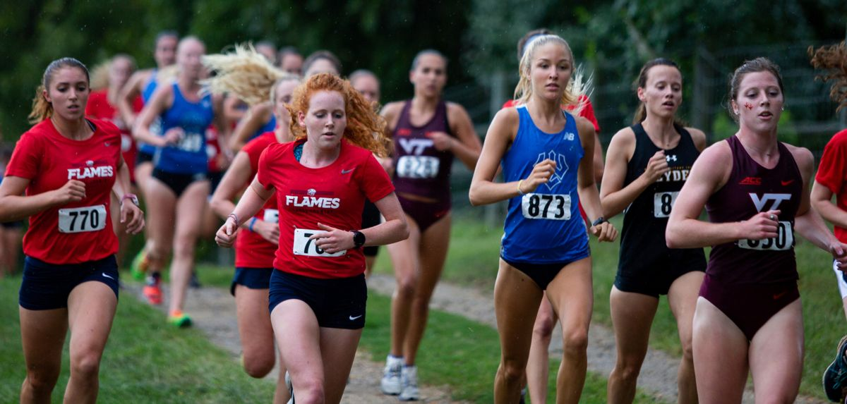 Naomi Bowser (far left) and Emma Bower (center) are two of the Lady Flames' top freshmen this season.