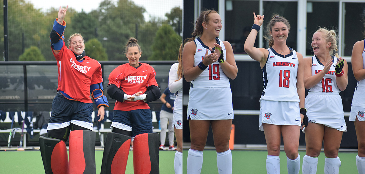 Schaefer (left) and Short (right) were both honored as NFHCA Scholars of Distinction.