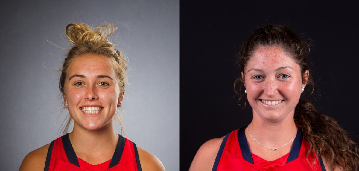 Roberts (left) and Short (right) are NFHCA Division I Scholars of Distinction.
