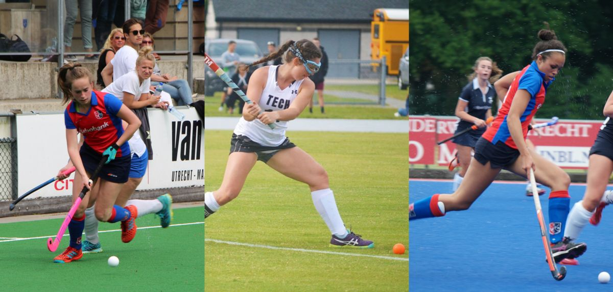 (L-R) Vaanhold, Short and Meidane are joining the Lady Flames, this season.