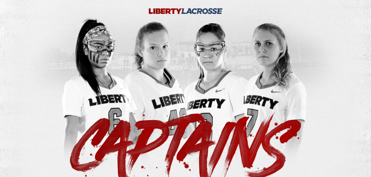 (L-R) McCaffrey, Tarris, Foster and White are the 2019 Liberty women's lacrosse team captains.