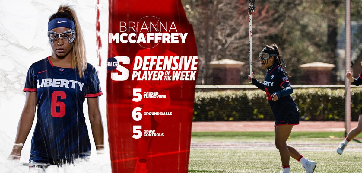 McCaffrey is the first player in program history to receive Big South awards in consecutive weeks.