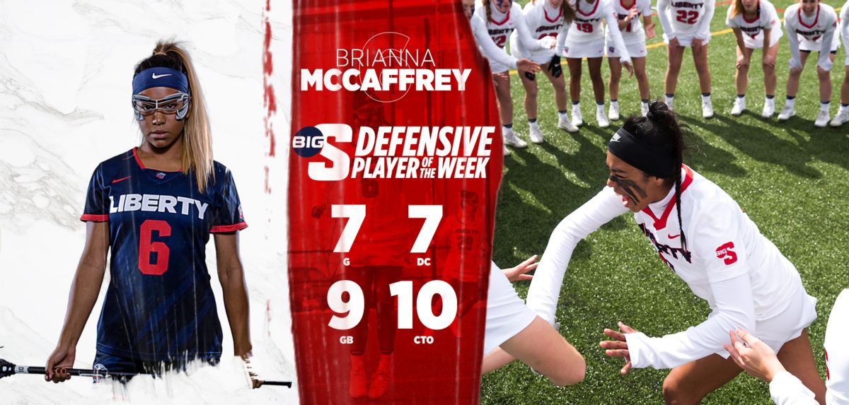 McCaffrey has now received Big South Defensive Player of the Week three times, this season.