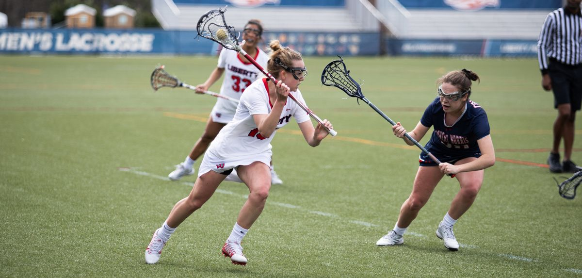 Grace Fletcher's late-game heroics provided Liberty a 14-13 win over Robert Morris, Thursday.