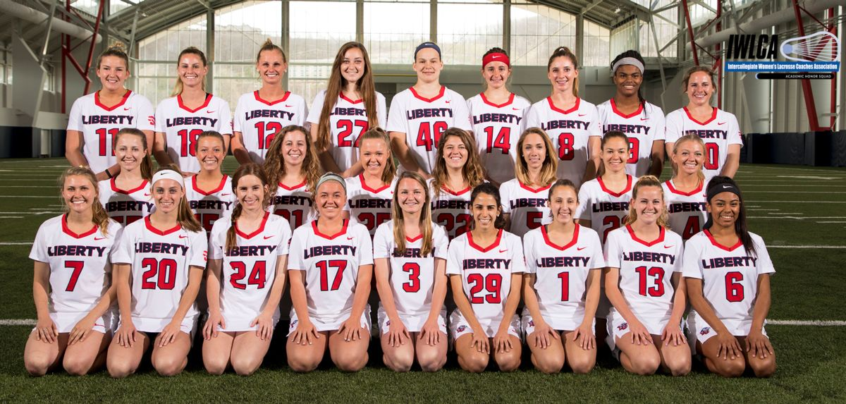 The Liberty women's lacrosse program has been tabbed an Intercollegiate Women's Lacrosse Coaches Association (IWLCA) Zag Sports Academic Honor Squad for its efforts in the classroom, this year.