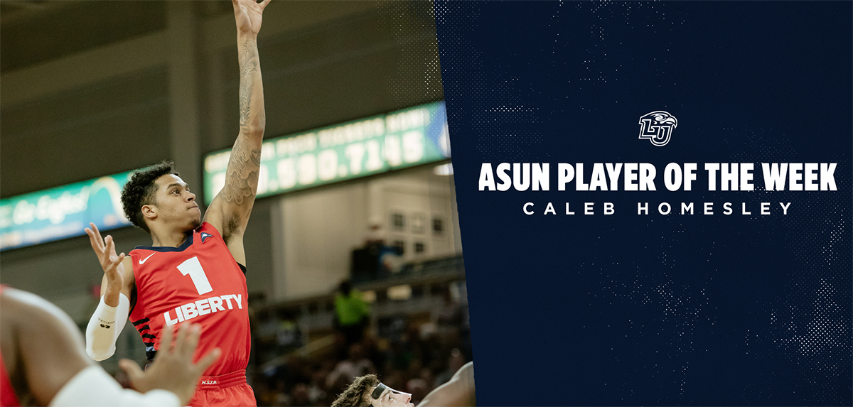 Caleb Homesley was named ASUN Player of the Week on Jan. 6.