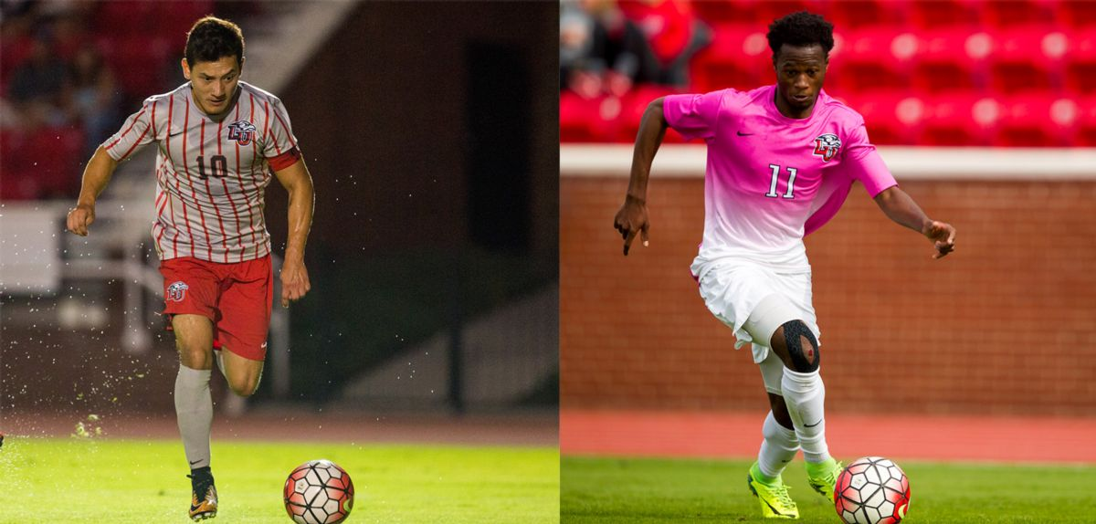 Kevin Mendoza and Tresor Mbuyu were selected to the ASUN Preseason Men's All-Conference team.