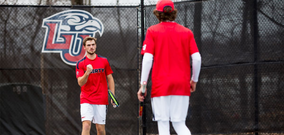 Matheson (left) and Burton (center) won as a doubles unit, and each player won his respective singles match at SDSU on Wednesday.