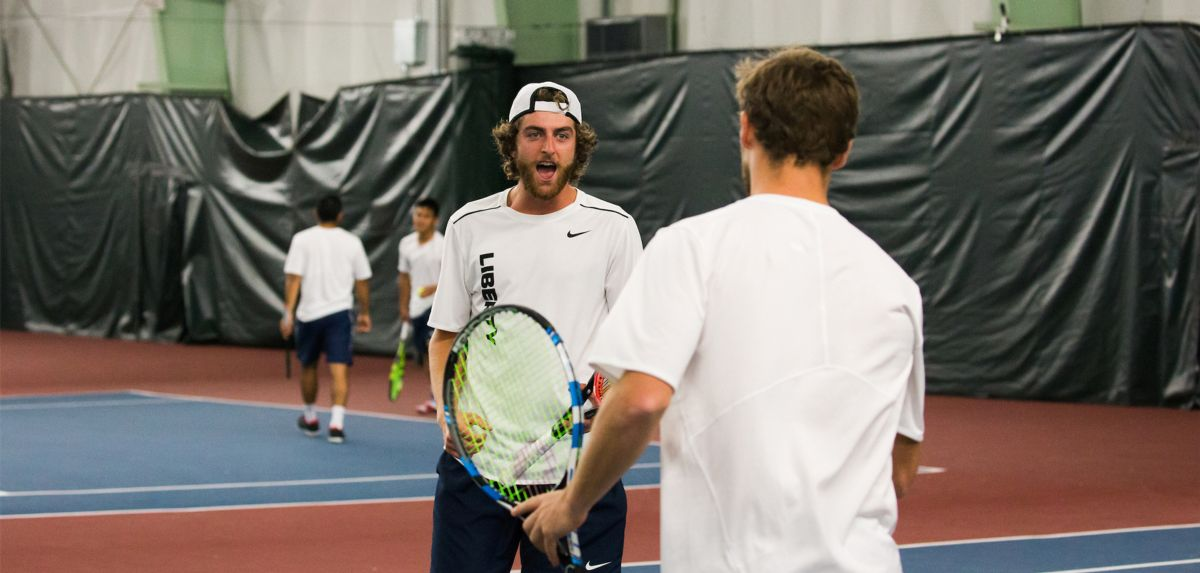 Burton and Matheson won in doubles, and both players won in singles on Saturday against Radford.