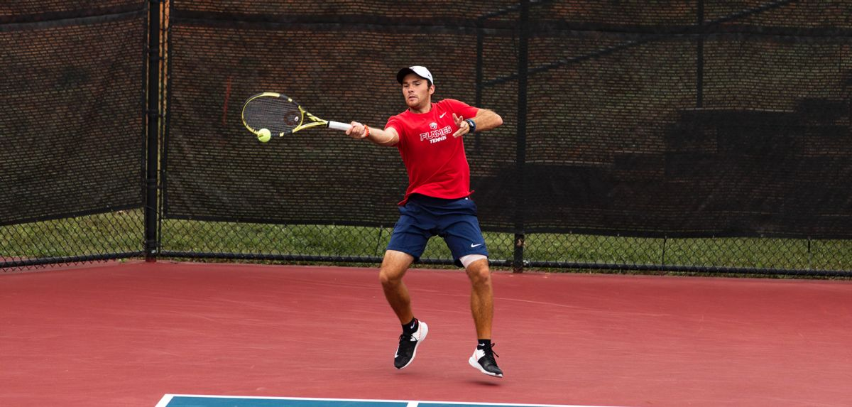 Ian Sturgill won in singles and doubles, Friday at the River City Open.