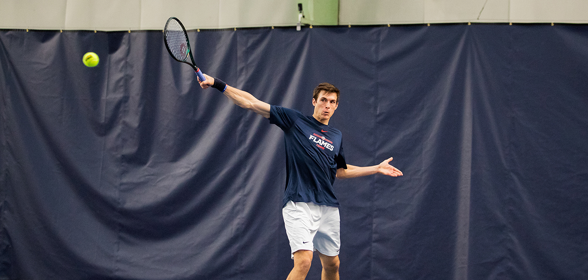 The Flames men's tennis team will host in-state foe Longwood, Friday afternoon at Crosswhite Athletic Club.