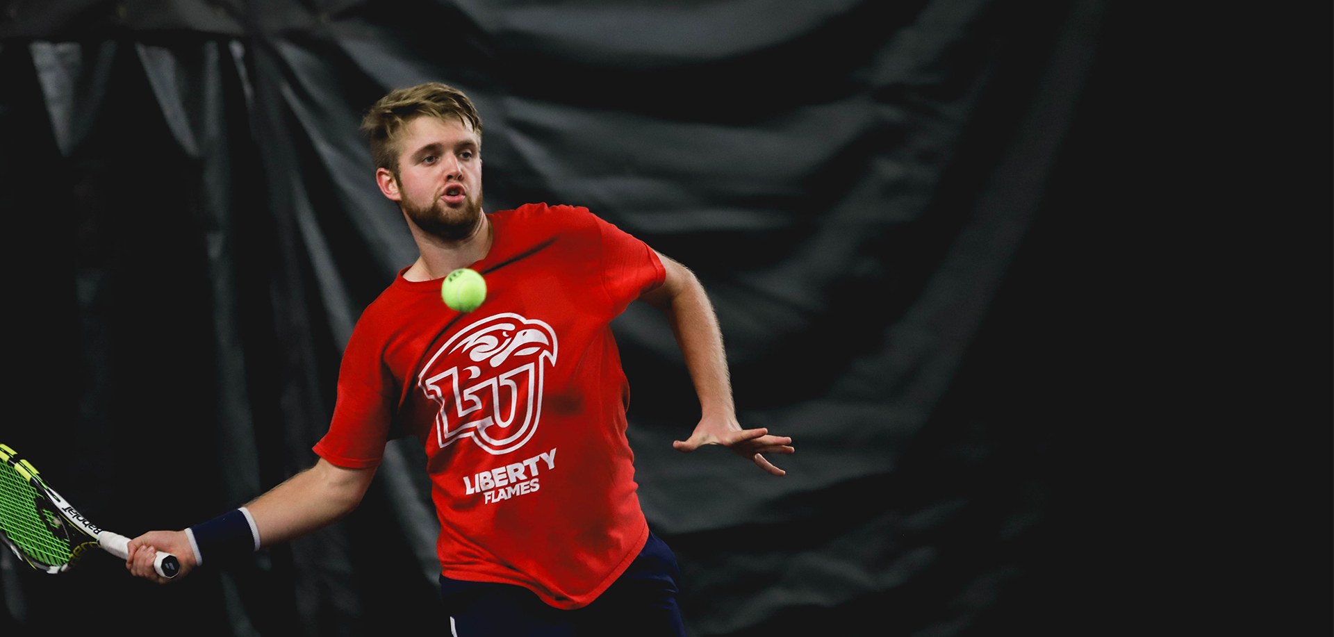 Borcuti's singles win clinched the match for Liberty over George Mason, Friday.