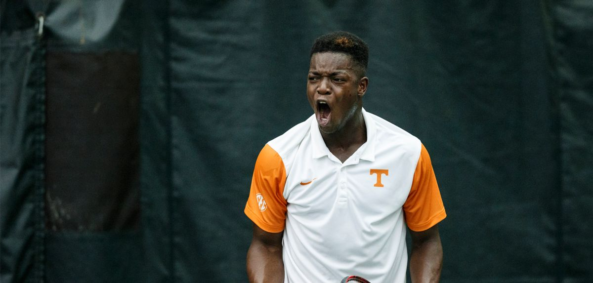 Muamba, a transfer from Tennessee, won his qualifying match on Saturday at the ITF Canada F6 Futures. (Photo Credit: Tennessee Athletics)