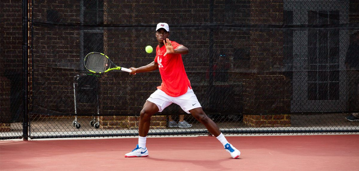 Muamba reached the singles round of 16 in his first trip to the ITA Atlantic Regional with the Liberty men's tennis team.