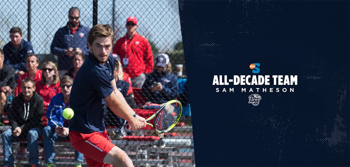 Matheson has been honored on the 2010-19 Big South Conference Men's Tennis All-Decade Team.