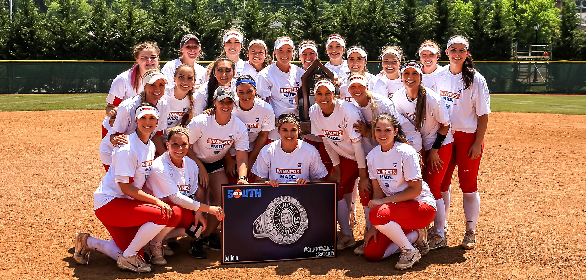 The 2011 Big South Champion Liberty Lady Flames