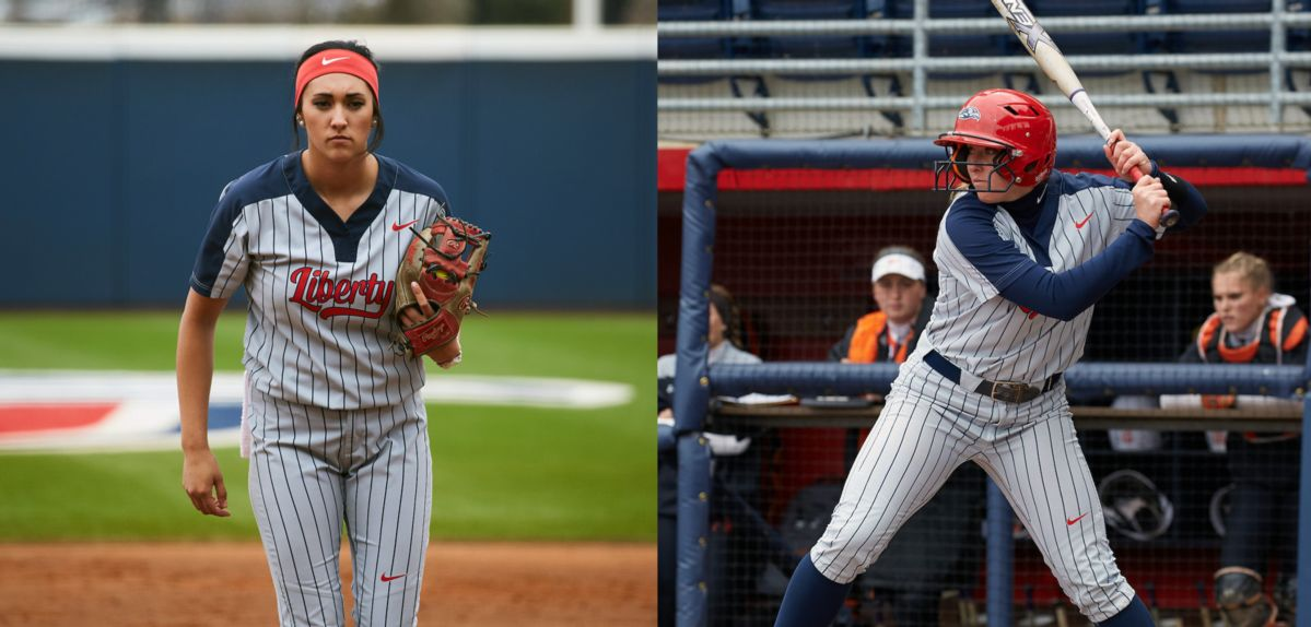 (L-R) Elizabeth Engler and Autumn Bishop were both honored by the Big South on Monday.
