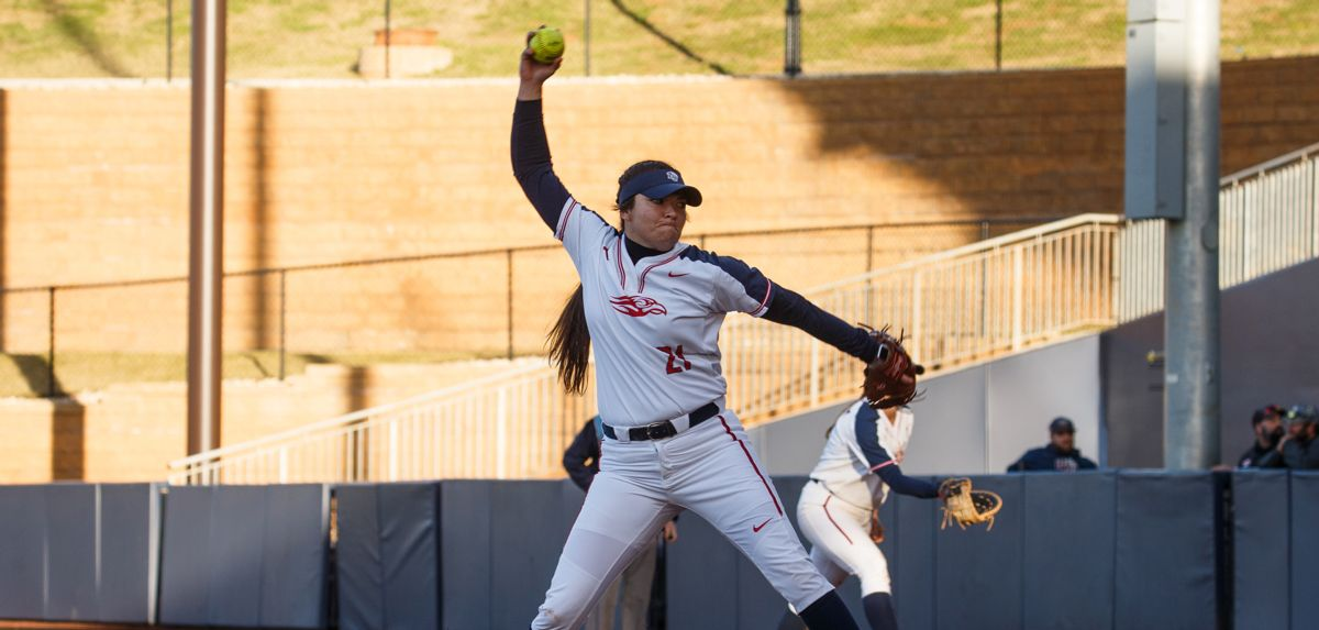 Megan Johnson tossed a two-hit shutout against Elon.