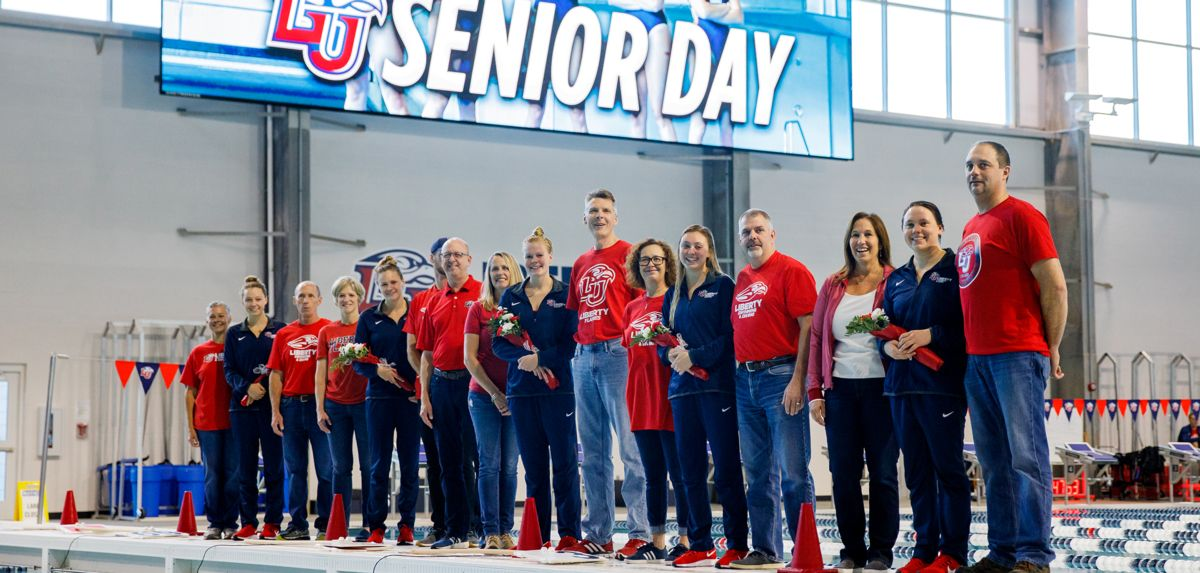 Liberty honored its five seniors with a senior day ceremony on Saturday.