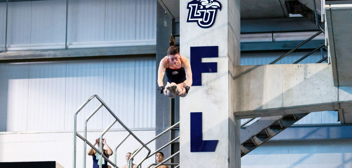 Abigail Egolf-Jensen won platform diving for the second time this season.