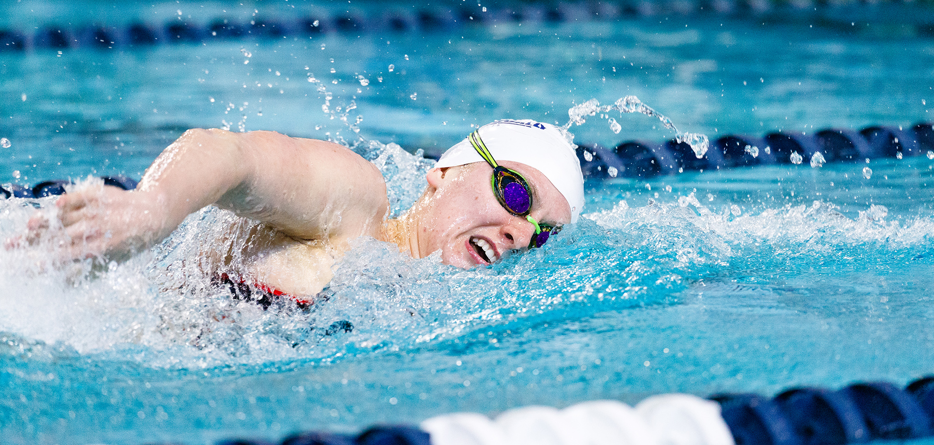 Emma Hazel entered sixth place on Liberty's all-time top 10 lists in both the 100 backstroke and 200 butterfly.