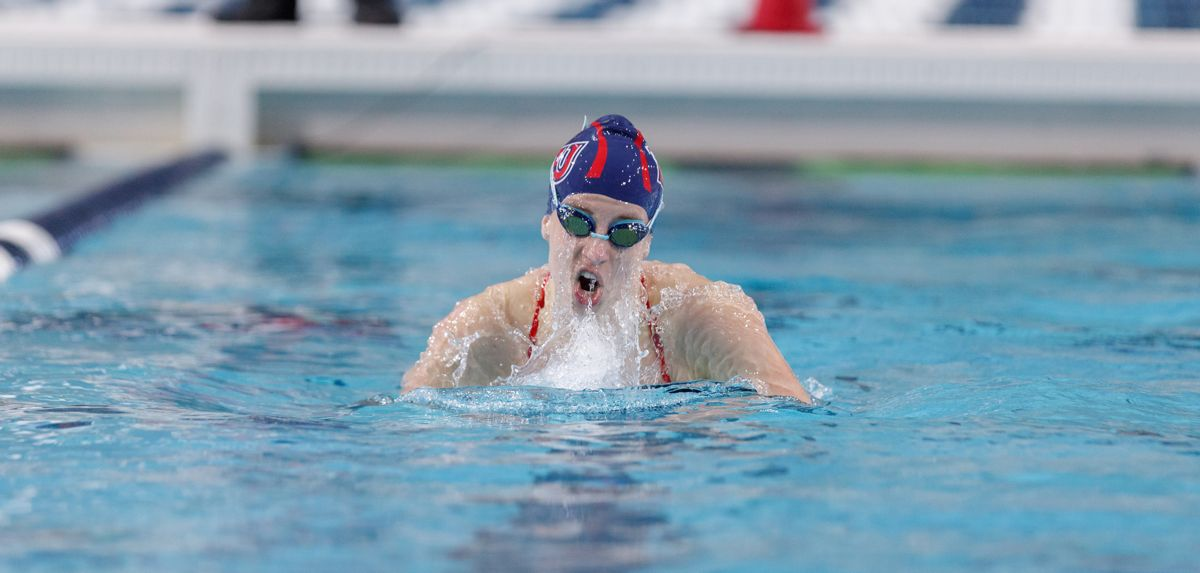 Jessica Schellenboom swam on Liberty's winning 400 medley relay on Saturday at BYU.